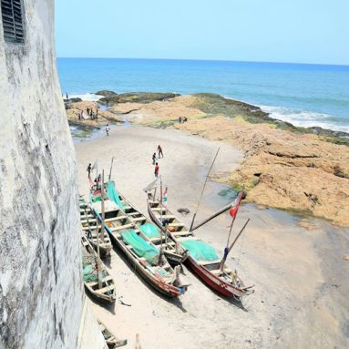 MAGNIFICENT VIEW FROM CAPE COAST CASTLE
